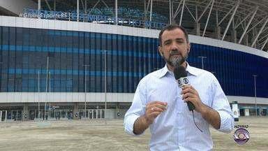 Arena se prepara para lotação máxima nesta quarta (2) - Expectativa é de quebra de recorde de público.