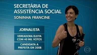 Soninha Francine, do PPS, será secretária do governo Dória - A jornalista Soninha Francine, do PPS, será a secretária de Assistência Social da prefeitura de João Dória.