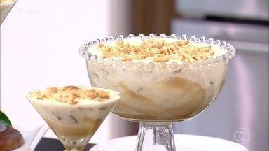 Banana Pudding - Chef Flavio Federico ensina a receita desta delícia, que fica com consistência de sorvete!
