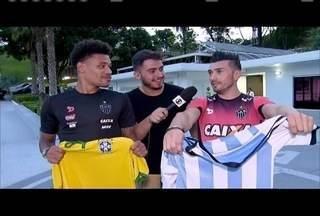 Atletas de Cruzeiro e Atlético fazem torcida para clássico entre Brasil e Argentina - Elencos dos dois times mineiros contam com jogadores das duas nacionalidades.