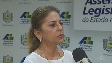 Telma Gurgel, toma posse na Assembleia Legislativa no Amapá - A deputada estadual assumiu o lugar de Ericlaudio Alencar, que se tornou o novo secretário de segurança pública do estado.