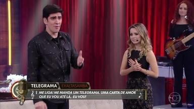 """Sandy participa do """"Pagode Dramático"""" - Bruno Garcia participa da brincadeira"""