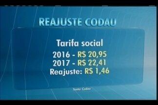 Codau anuncia reajuste da tarifa de água em Uberaba para 2017 - Aumento será de 7% para todas as faixas de consumo.Durante coletiva nesta sexta (11), autarquia também anunciou novidades.