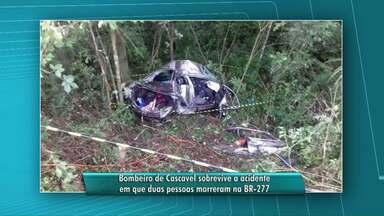 Tenente do Corpo de Bombeiros fica em estado grave ao sofrer acidente - Duas pessoas morreram na batida.