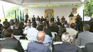 Base do Nepom é inaugurada nas margens do Rio Paraná - Objetivo é aumentar o patrulhamento na fronteira.