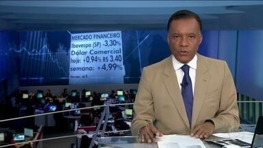 Eleição de Trump ainda afeta mercado financeiro - Bolsa de Valores de São Paulo caiu 3,3%. O dólar comercial subiu para R$ 3,40.
