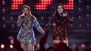Maiara e Maraisa lançam vídeo inédito, 'Cruzando os Dedos', no Fantástico - Clipe foi gravado durante show do novo DVD das gêmeas, em Campo Grande.