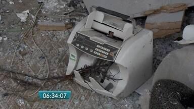Comerciantes em cidade onde banco foi explodido reclamam de prejuízos - Os ataques a agência bancária em Pedro Gomes gera prejuízo para todo município.