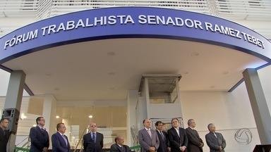 Novo prédio do Fórum Trabalhista é inaugurado em Campo Grande - Porém, o atendimento ao público no local deve começar só em janeiro.