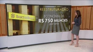 Banco do Brasil fecha 402 agências em reestruturação para economizar - Outras 379 vão ser transformadas em postos de atendimento. Além disso, 31 superintendências estaduais deixarão de existir. Nenhuma agência vai ser fechada nos municípios onde o banco é a única instituição financeira.