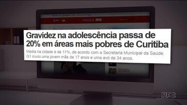Gravidez na adolescência chega a 21% nas regiões mais pobres de Curitiba - Acompanhe a reportagem no G1 Paraná