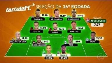 Confira a seleção do Cartola na 36ª rodada do Brasileirão - Marinho foi o maior pontuador.