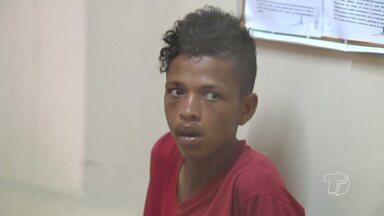 Jovem assalta estudante, é pego por populares e preso em Santarém - Caso aconteceu nesta terça-feira (22) no bairro Novo Horizonte. Criminoso vai ser encaminhado para a penitenciária de Santarém.