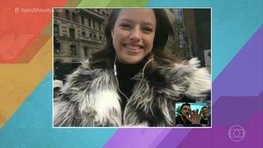 Agatha Moreira comenta vitória de 'Verdades Secretas' no Emmy Internacional - Atriz conversa com o 'Vídeo Show' direto de Nova York