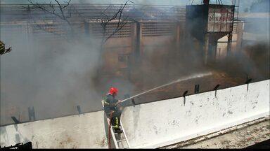 Em João Pessoa, fábrica em reforma é atingida por incêndio, diz Bombeiros - Incêndio ocorreu no fim da manhã deste domingo (27), no Distrito Industrial. Segundo Bombeiros, fogo tomou grande proporção ao queimar espumas.
