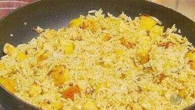 Arroz indiano é a receita desta segunda-feira (28) no 'Prato Feito' - Maçã e frango são ingredientes da dica de Fernando Kassab.