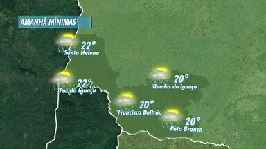 Terça feira será de chuva rápida e pouco volumosa na região - Veja a previsão no mapa