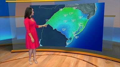Tempo: frente fria se afasta do RS na terça-feira (29) - Assista ao vídeo.