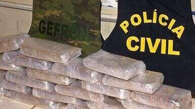 Homem com mais de 25 kg de cocaína é preso em Tangará - Homem com mais de 25 kg de cocaína é preso em Tangará.