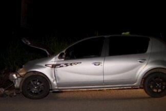 Acidente é registrado na AMG-0335 entre Divinópolis e Ermida - Carro freou para cachorro que passava na pista e veículo de trás não conseguiu parar. Ninguém se feriu.