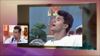 Marcos Pasquim já foi vocalista de boy band - Cantor se diverte ao ver as imagens da sua adolescência