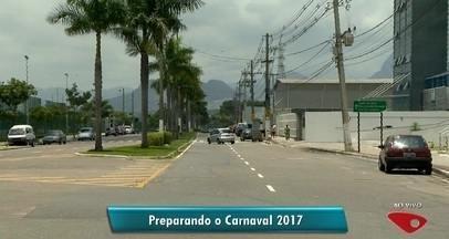 Avenida de Sambão do Povo é interditada em Vitória para preparativos do carnaval, no ES - Venda dos camarotes e mesas começa na próxima semana. Desfile acontece nos dias 17 e 18 de fevereiro de 2017.