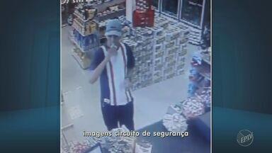 Homens roubam R$ 3 mil reais de posto de gasolina em Indaiatuba - Imagens do circuito de segurança registraram o assalto. Um funcionário foi rendido por um dos criminosos armado.