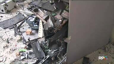 Ladrões explodem caixa eletrônico dentro do Fórum de Ponta Grossa - A ação foi na madrugada desta sexta-feira (09).