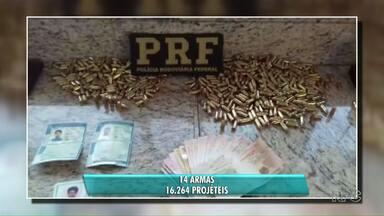 Aumenta o número de apreensões de munição na fronteira - Projéteis são comprados no Paraguai.