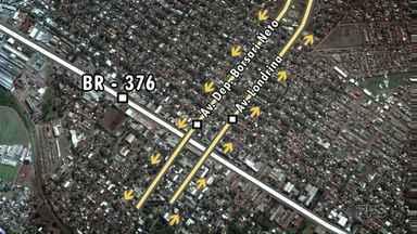 Avenidas Londrina e Borsari Neto, em Sarandi, ganham viadutos na BR-376 - Obras foram executadas pela Viapar, que também fez o rebaixamento da rodovia