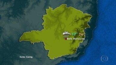 Previsão é de chuva para este domingo em grande parte de Minas Gerais - O tempo continua instável neste domingo em grande parte de Minas Gerais. A previsão é de chuva à tarde e à noite. Em Belo Horizonte, a temperatura varia entre 17°C e 26°C.