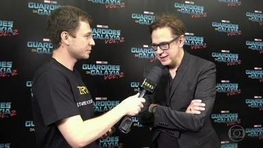 Tiago entrevista James Gunn na CCXP - Diretor falar sobre próximo 'Guardiões da Galáxia'
