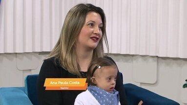 No estúdio, mãe fala sobre a filha, que tem Síndrome de Down - Assista ao vídeo