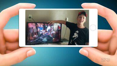 Telespectadores chamam o intervalo no Paraná TV - Os vídeos são enviados para o telefone (45) 99951-5958.