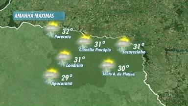 Primeiro dia do verão com nuvens e chuva em todo o Paraná - E a meteorologia prevê um verão típico: quente e chuvoso!