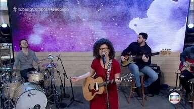 Roberta Campos abre o 'Encontro' com música - Cantora canta 'Casinha Branca'