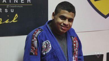 Jovem encontra no jiu jitsu maneira de conviver com o autismo - Ricson pratica o esporte há oito anos.