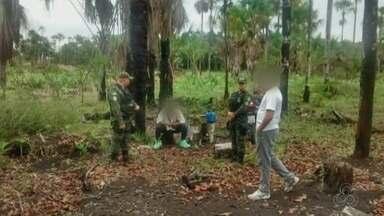 Batalhão ambiental flagrou construção de tanques de piscicultura em área de preservação - Com esse, já são três casos de degradação ambiental em áreas de proteção do Amapá, em uma semana.