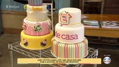 Bolos decorativos são soluções baratas para aniversários e casamentos - Aprenda a fazer