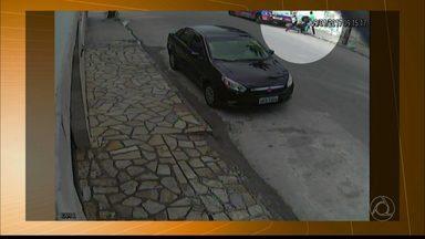 Câmeras de segurança flagram roubo de pneu de carro em Campina Grande - Caso foi registrado na segunda-feira; confira.