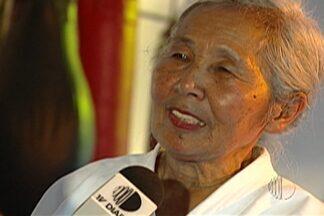Aos 90 anos morre a carateca mais velha do Brasil. Tereza Sesaki, de Mogi das Cruzes. - Tereza Sezaki foi destaque nacional em 2005 em reportagem exibida no Esporte Espetacular daquele ano.