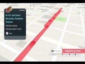 Veja a movimentação nas principais avenidas de Pres. Prudente - Aplicativo Waze ajuda motoristas a escolherem os melhores trajetos.