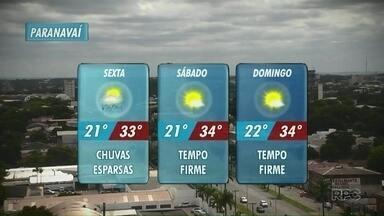 Sol entre poucas nuvens nesta sexta-feira; confira a previsão - Temperaturas mínimas seguem acima dos 20º