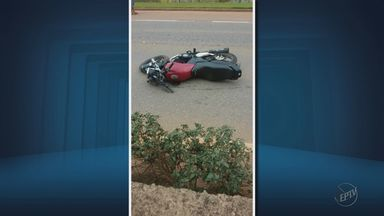 Motociclista morre ao bater em mureta na BR-459 em Pouso Alegre - Motociclista morre ao bater em mureta na BR-459 em Pouso Alegre