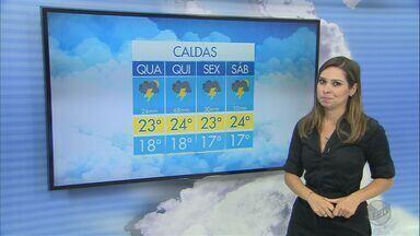 Confira a previsão do tempo para esta quarta-feira (18) no Sul de Minas - Confira a previsão do tempo para esta quarta-feira (18) no Sul de Minas