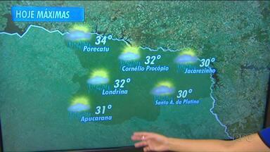 Massa de ar seco começa a avançar no Paraná - E, segundo a meteorologia, isso deve diminuir a quantidade de chuva no estado nos próximos dias.
