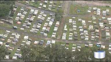 Link Vanguarda continua com a blitz do mato alto - Moradores reclamam de matagal no cemitério em Jacareí.