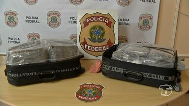 Mulher suspeita de tráfico de drogas é presa pela PF em Óbidos, no PA - Suspeita foi presa nesta terça-feira (17) com 11kg de maconha tipo 'Skunk'.