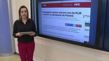 Passageiro passa mal em voo internacional e morre em Curitiba - Piloto fez pouso de emergência no aeroporto Afonso Pena