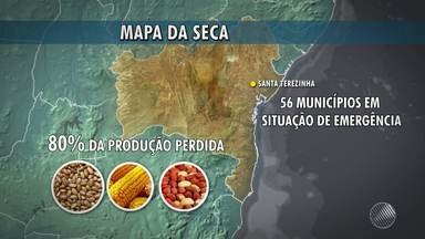 Santa Terezinha tem situação de emergência declarada por causa da seca - Confira mais informações na previsão do tempo.